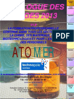 Catalogue Formation Continue Chimie Materiaux Polymeres Metaux Composites Formulation Parfums Cosmetique Analyse Securite 2013