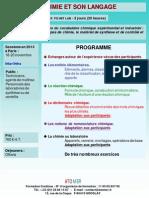 Formation Continue La Chimie Et Son Langage 2013