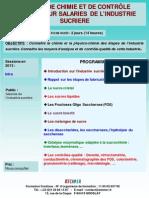 Formation Continue Notions de Chimie Et de Contrôle-qualité Pour Salariés de Industrie Sucrière 2013