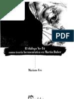 Mariano Ure El Dialogo Yo Tu Como Teoria Hemeneutica en Martin Buber