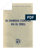 Habeas Corpus en El Peru - Domingo Garcia Belaunde