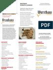 Wursthaus Hot Food Menu