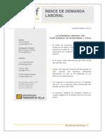 Indice de Demanda Laboral - Universidad Di Tella - Noviembre 2012