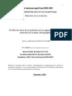 rapport de recherche sur les apprentissages et le developpement des activités artisitiques