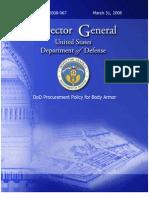 DoD IG Armor Report