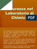 Sicurezza nel laboratorio di chimica