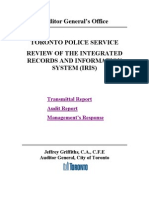 2011 AG to TPS Review of Integrated Records and Information System IRIS