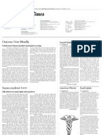 New York Times Editorial Spread, Original Text/Mimicked Layout