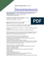 Trucos Mios Desarrollo y Programacion Web