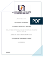 Consideraciones Eticas Morales y Espirituales a Pacientes en Etapa Terminal