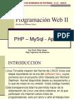 Sesion 01 - Introduccion a PHP - MySql