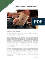 Egypt's 'New' Draft Constitution