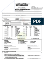 Sanitary Plumbing Permit