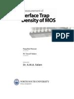 Interface Trap Density of MOS, Raquibul Hassan, Tawsif Salam, 2011