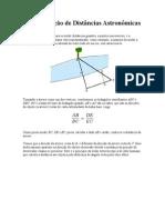 Determinação de Distâncias Astronômicas