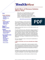 Health Effects of Microwave Radiation (Western View)