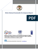 Belize National Sustainable Development Report