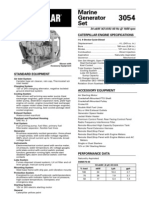 Spec Sheets - Cat 3054 Genset