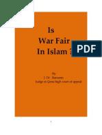 Is the War Fair in Islam