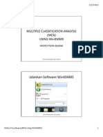 Multiple Classification Analysis (MCA) Using WinIDAMS (Widyo Pura Buana)