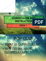 Week 1 - Introduction to Curriculum and Instruction