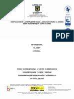 Informe final Zonificacion de la respuesta sismica de Bogotá