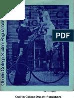 1975-1976 Oberlin Student Regulations