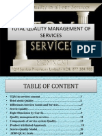 Total Quality Management of Services