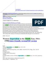 Western Imperialism in the Middle East, 1914–1958
