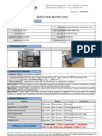 Sample Report for Furniture Inspection