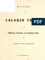 Stephen B. Brague--Notes on Colored Troops and Military Colonies on Southern Soil (1863)