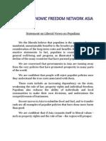 Final- EFN 2012 Statement on Liberal Views on Populism