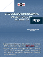 Etiquetado Nutricional Obligatorio de Alimentos Prinal