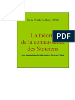 Alain - La Théorie de la connaissance des Stoïciens
