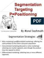 Segmentatation, targeting and positioning