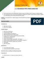Advance Pipe Stress Analysis