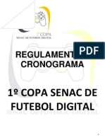 Regulamento 1º Copa Senac Futebol Digital