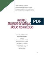 UNIDAD 3 SEGURIDAD DE INSTALACIONES BÁSICAS YESTRATÉGICAS TRABAJO