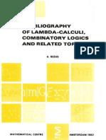 Adrian Rezus - A Bibliography of Lambda-calculi, Combinatory Logics and Related Topics - Mathematisch Centrum, Amsterdam 1982