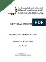 Naeem (g1139591) Qdm Individual Assignment