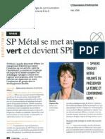SP Metal se met au vert et devient SPhere