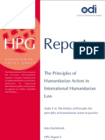 Principle of Humanitarian Law