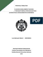 Pengaruh Akuisisi Konglomerasi Dan Non