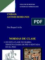 1 Generalidades de antimicrobianos y betalactamicos. Dra. Raquel