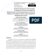 Comparison Between Training Function Trainbfg and Trainbr in Modeling of Neural Network for Predicting the Value of Specific Heat Capacity of Working Fluid Libr-h2o Used in Vapour Absorption Refrigeration Syst