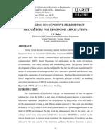Modeling Ion Sensitive Field Effect Transistors for Biosensor Applications