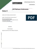 Sekolahbareng.blogspot.com Latihan Soal Uas Bahasa Indonesia Kelas x