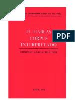 El Habeas Corpus Interpretado - Domingo Garcia Belaunde