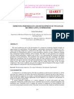 Improving Performance and Development of Two-stage Reciprocating Compressors