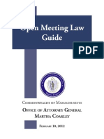 Open Meeting Law Guide
